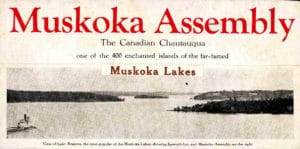 Brochure for Muskoka Assembly Chautauqua